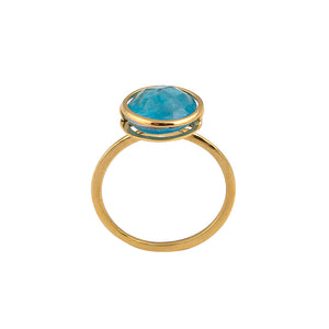 Golden Apatite Ring