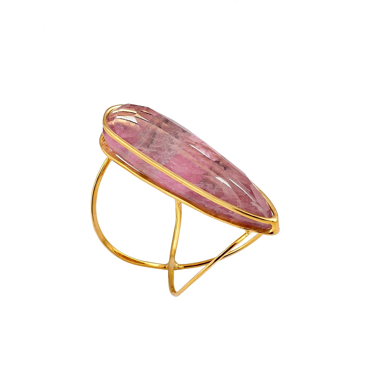 Golden Ruby Infinity Ring