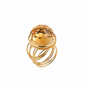 Golden Citrin Wire Ring