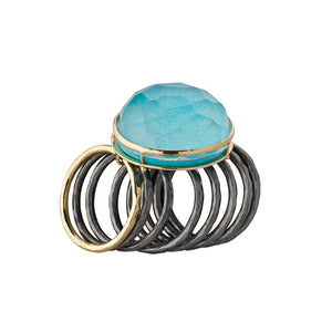 Peculiar Turquoise Gold Ring
