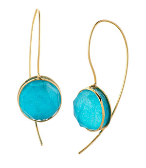 Golden Turquoise Earrings