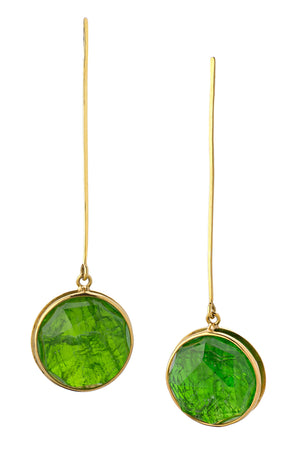 Golden Dioptase Earrings