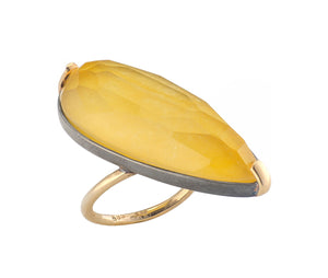 Teardrop Agate Ring
