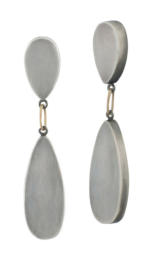 Silver Tear Earrings