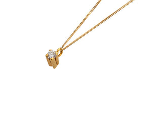 Golden Diamond Necklace
