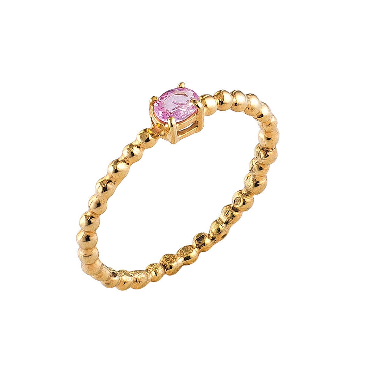 Golden Granulated Sapphire Ring