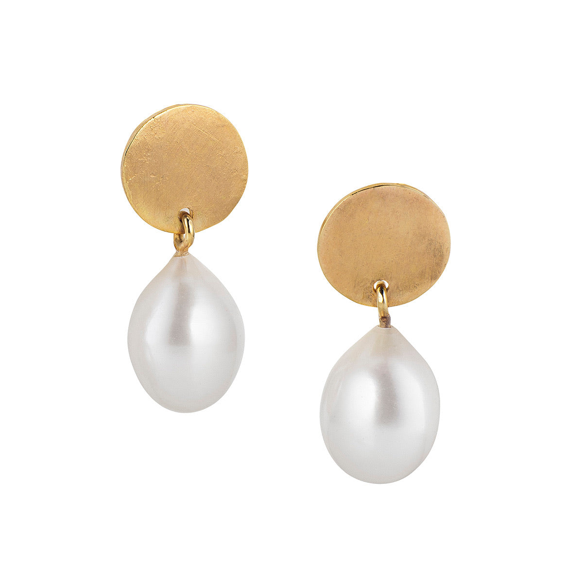 Pearl Drop Halo Earrings