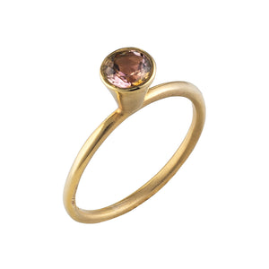 Solitaire Bell Tourmaline Ring