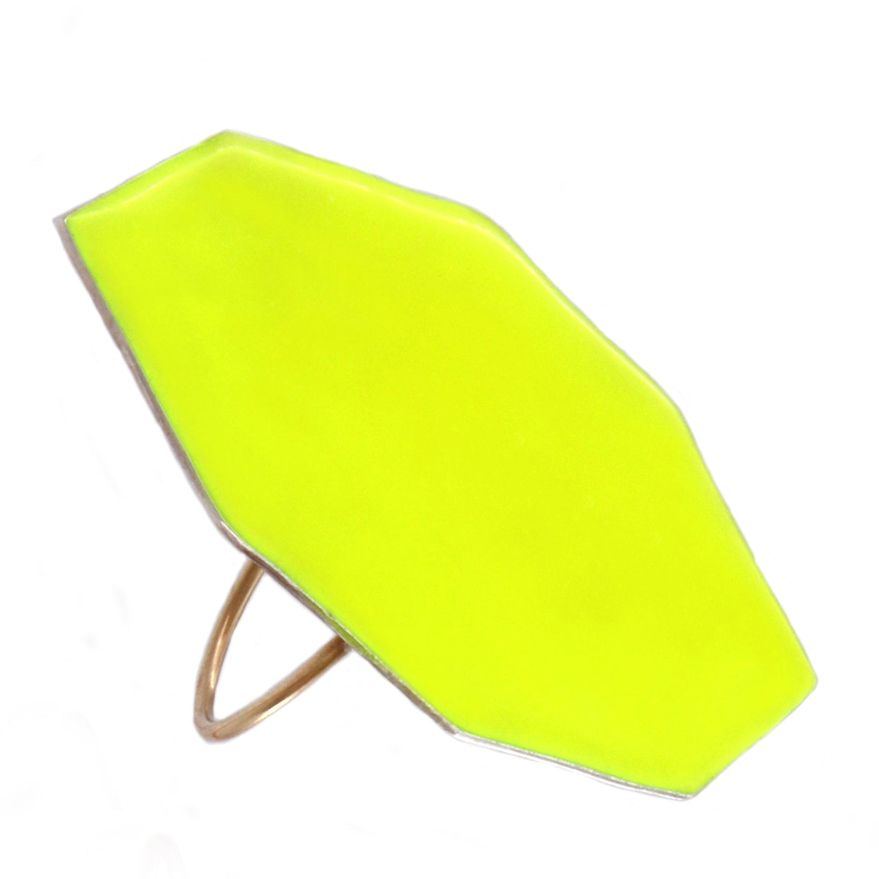 Polygon Ring Fluo Yellow