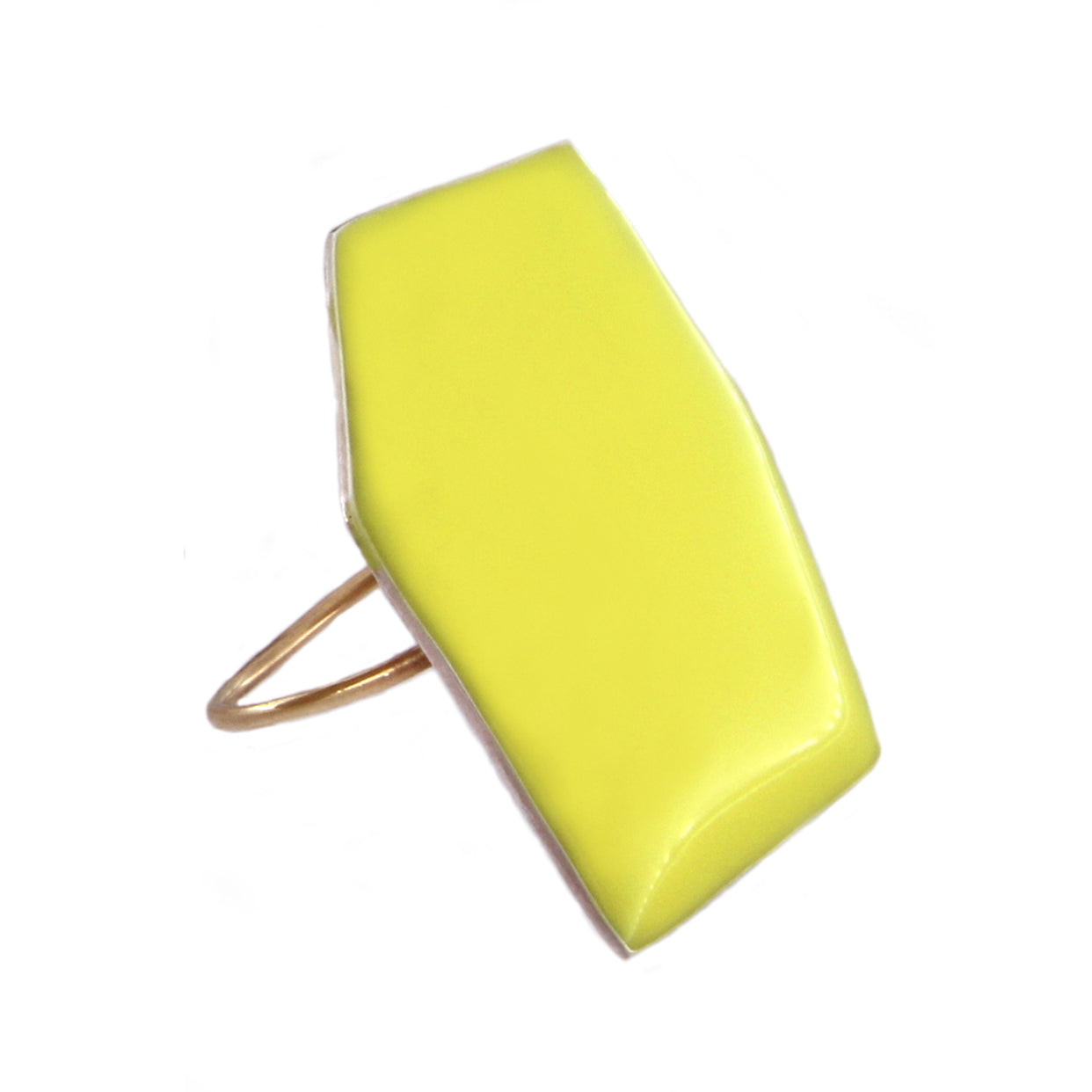 Polygon Ring Yellow