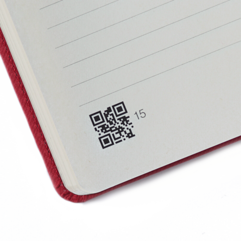 Notebook with QR Code