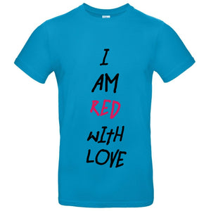817421399ed I am red with love Short-Sleeve Unisex T-Shirt - Curly Sue Clothing