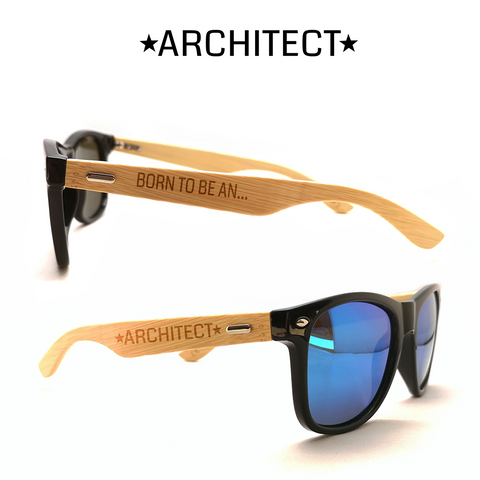 Born to be an Architect 2 Sonnenbrille mit Lasergravur