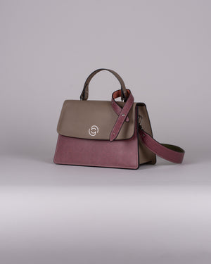 handbag set - taupe monogram dark