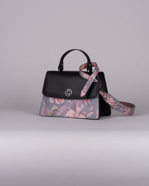 handbag set - black hummingbird dark