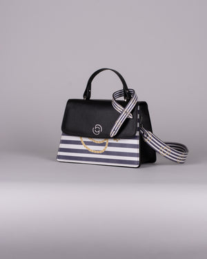 handbag set - black marine blue