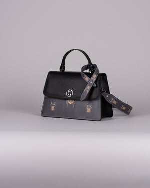 handbag set - black scarabaeus