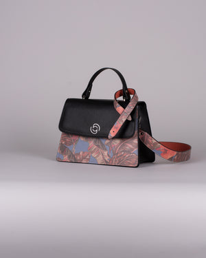 handbag set - black orchid