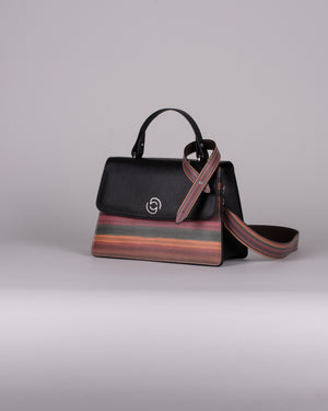 handbag set - black stripes limited edition