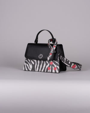 handbag set - black zebra