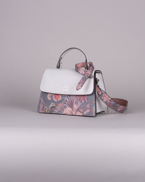 handbag set - white hummingbird dark