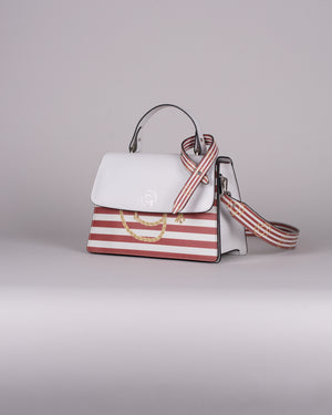 handbag set - white marine red