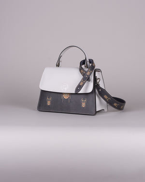 handbag set - white scarabaeus