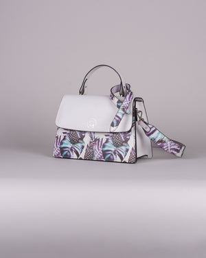 handbag set - white pineapple