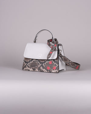 handbag set - white snake
