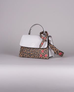 handbag set - white leopard