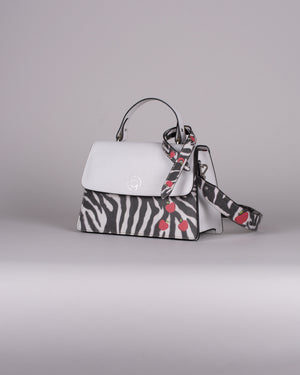 handbag set - white zebra