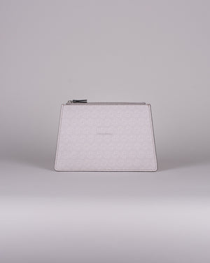 clutch monogram white