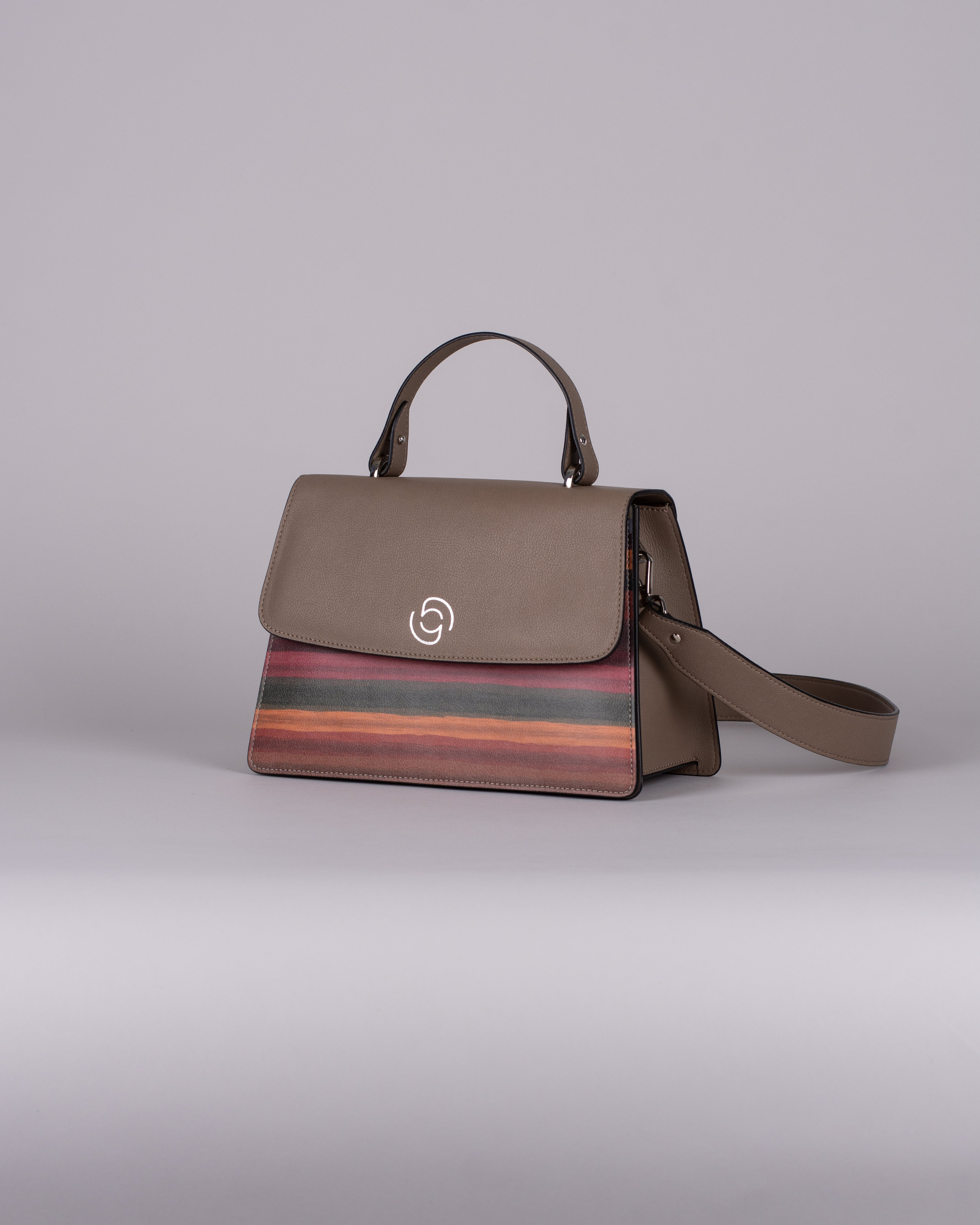 handbag set - taupe stripes limited edition