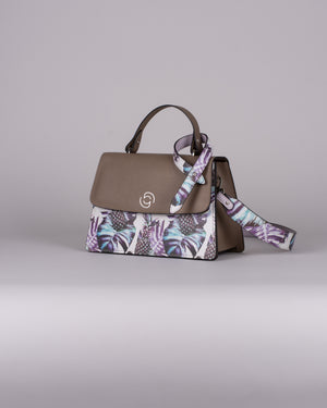 handbag set - taupe pineapple