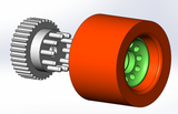 Aluminum Kegel Pulley With Integrated Bearing