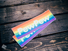 "PRIDE PewPew Sticker - 6.56"" x 2"""