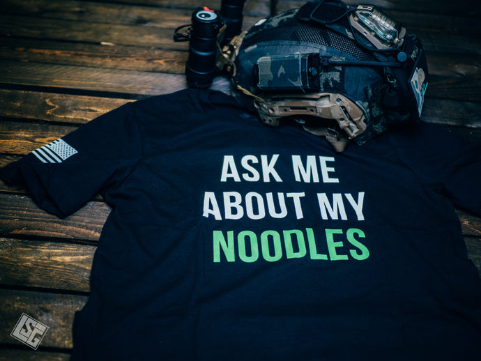 Ask Me About My Noodles - T-Shirt - GITD