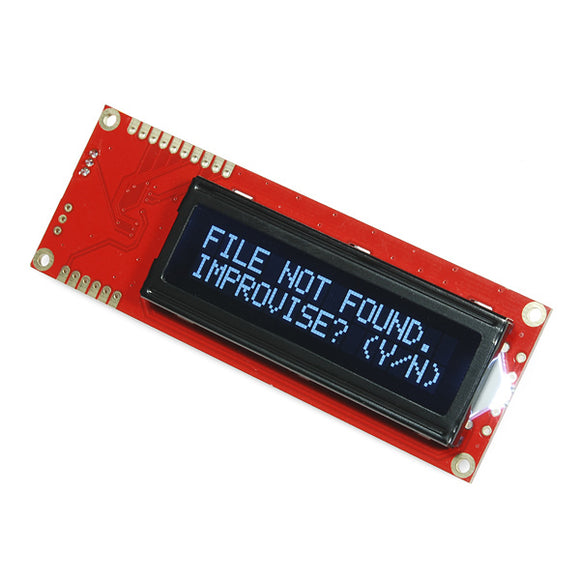 Serial Enabled 16x2 LCD - White on Black 5V