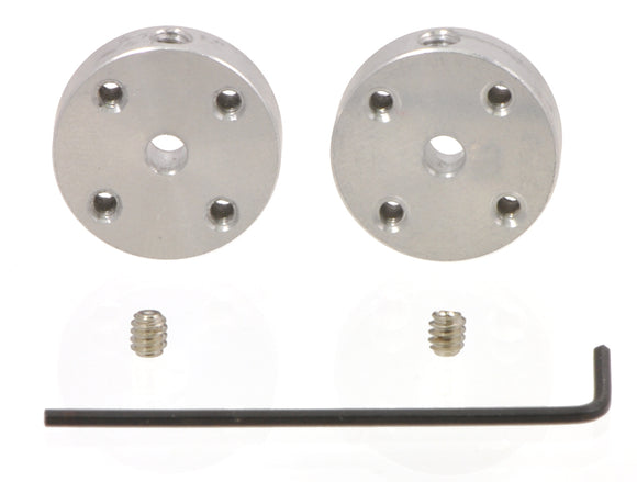 Pololu Universal Aluminum Mounting Hub for 3mm Shaft, M3 Holes (2-Pack) Image