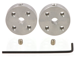 Pololu Universal Aluminum Mounting Hub for 4mm Shaft, M3 Holes (2-Pack) Image