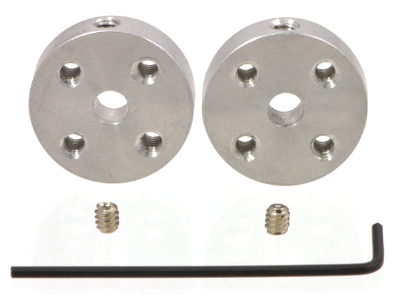 Pololu Universal Aluminum Mounting Hub for 5mm Shaft, M3 Holes (2-Pack) Image