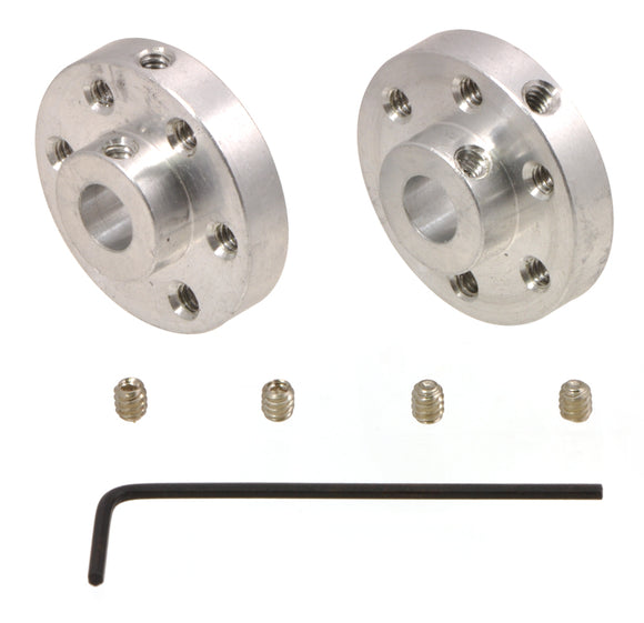 Pololu Universal Aluminum Mounting Hub for 6mm Shaft, M3 Holes (2-Pack) Image