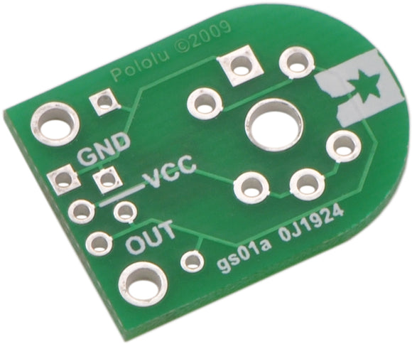 Pololu Carrier for MQ Gas Sensors (Bare PCB Only) Image
