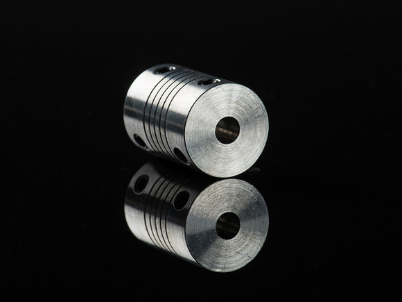Aluminum Flex Shaft Coupler - 5mm to 5mm