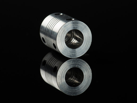 Aluminum Flex Shaft Coupler - 5mm to 10mm