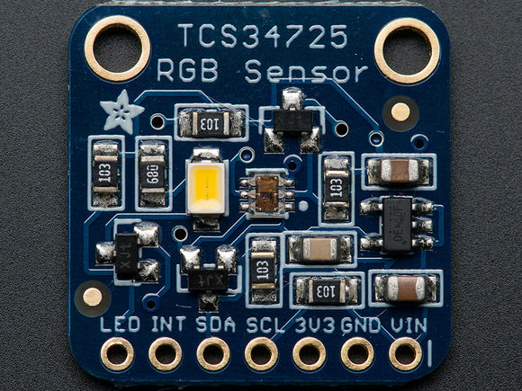 RGB Color Sensor with IR filter and White LED - TCS34725 Image
