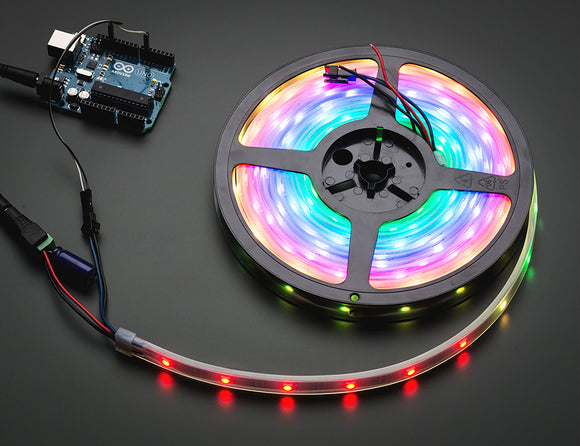 Adafruit NeoPixel Digital RGB LED Weatherproof Strip 30 LED -1m - BLACK Image