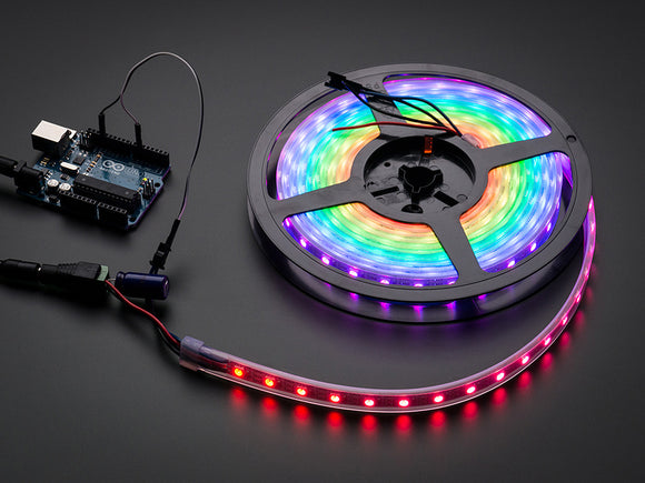 Adafruit NeoPixel Digital RGB LED Weatherproof Strip 60 LED -1m - BLACK Image