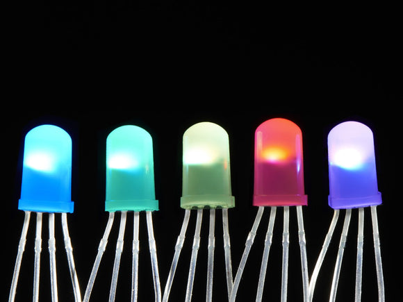 NeoPixel Diffused 5mm Through-Hole LED - 5 Pack Image