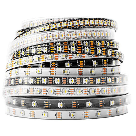 5m Addressable RGBW LED Strip (SK6812) - Neutral White, Various Options (30/60 LED)